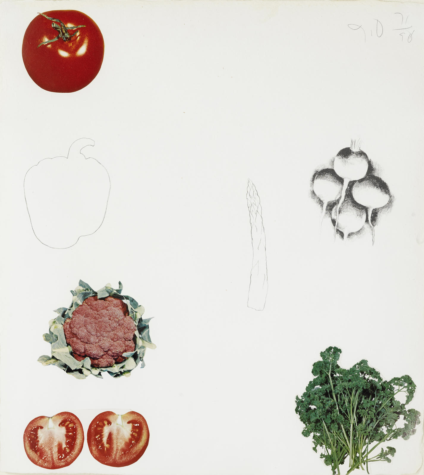 Jim Dine-Two Plates, From Vegetables (M. 66)-1970