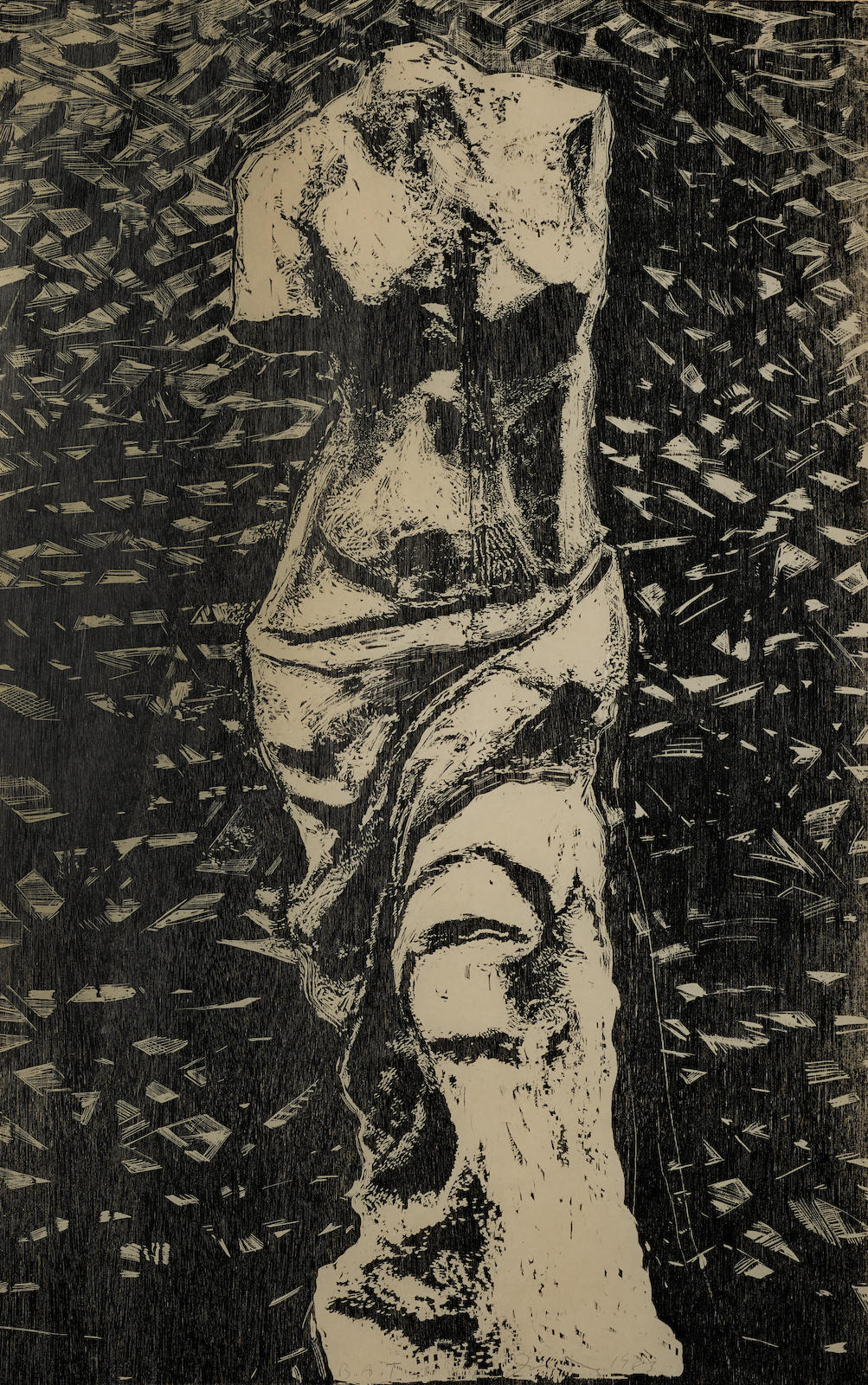 Jim Dine-Black Venus In The Wood (Do. & F. 160)-1983