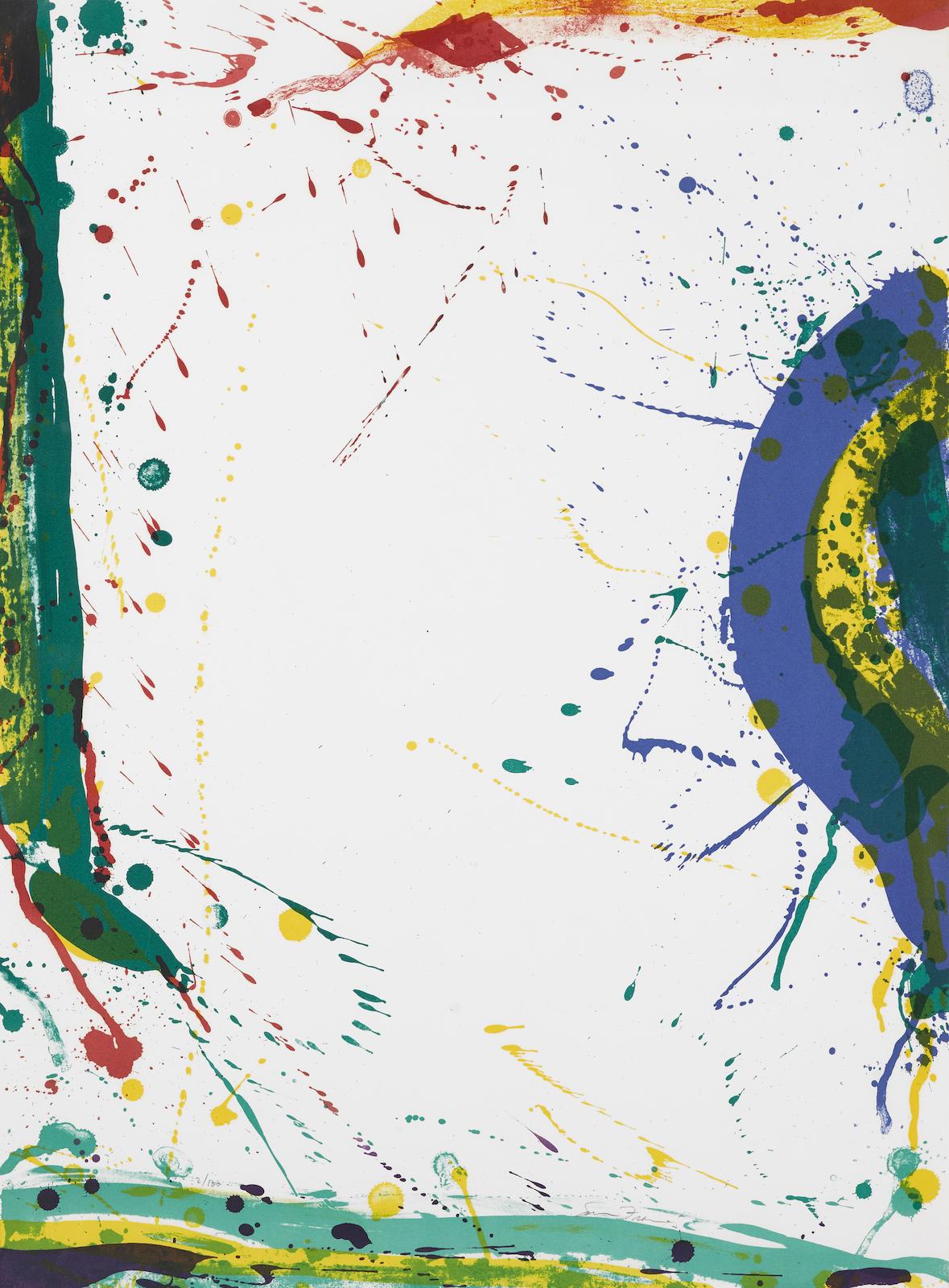 Sam Francis-Untitled, From Michel Waldberg: Poemes Dans Le Ciel (L. L271; Sf-315)-1986