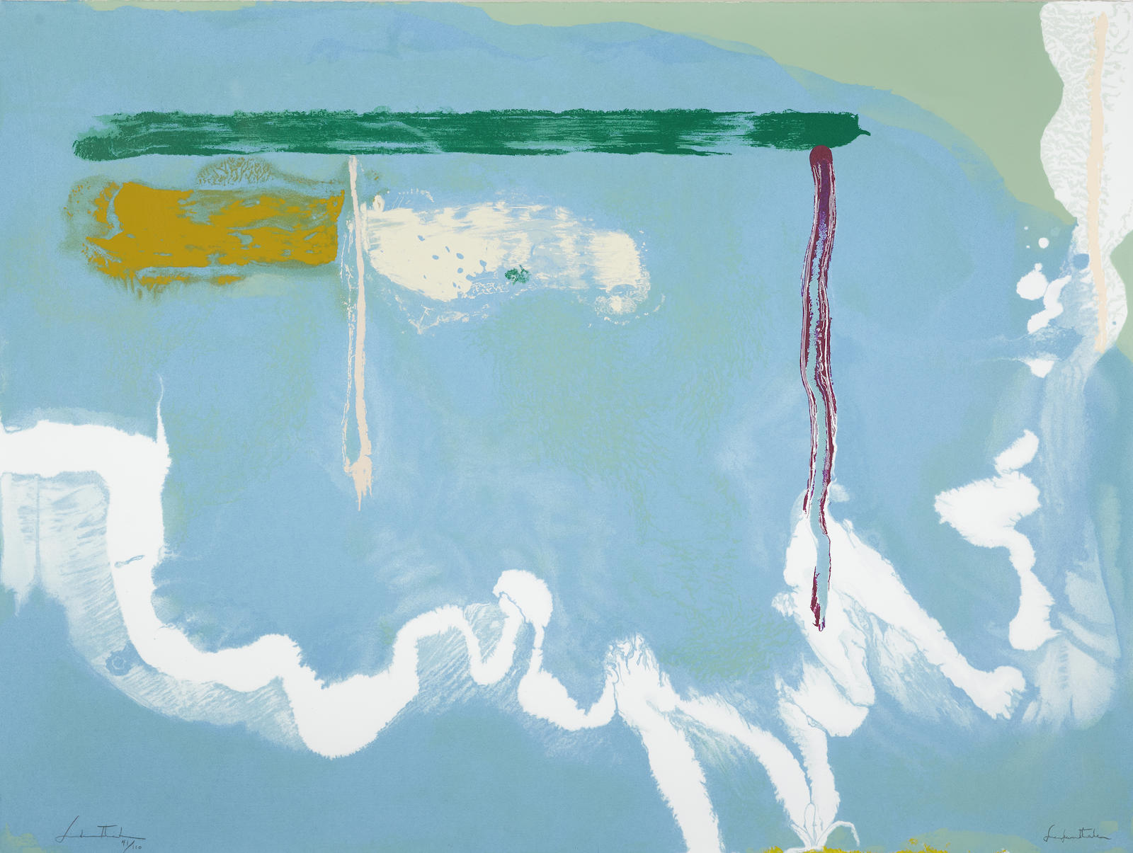 Helen Frankenthaler-Skywriting (Not In H.)-1997