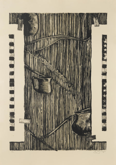 Jasper Johns-Ventriloquist (Black) (Ulae 233)-1986