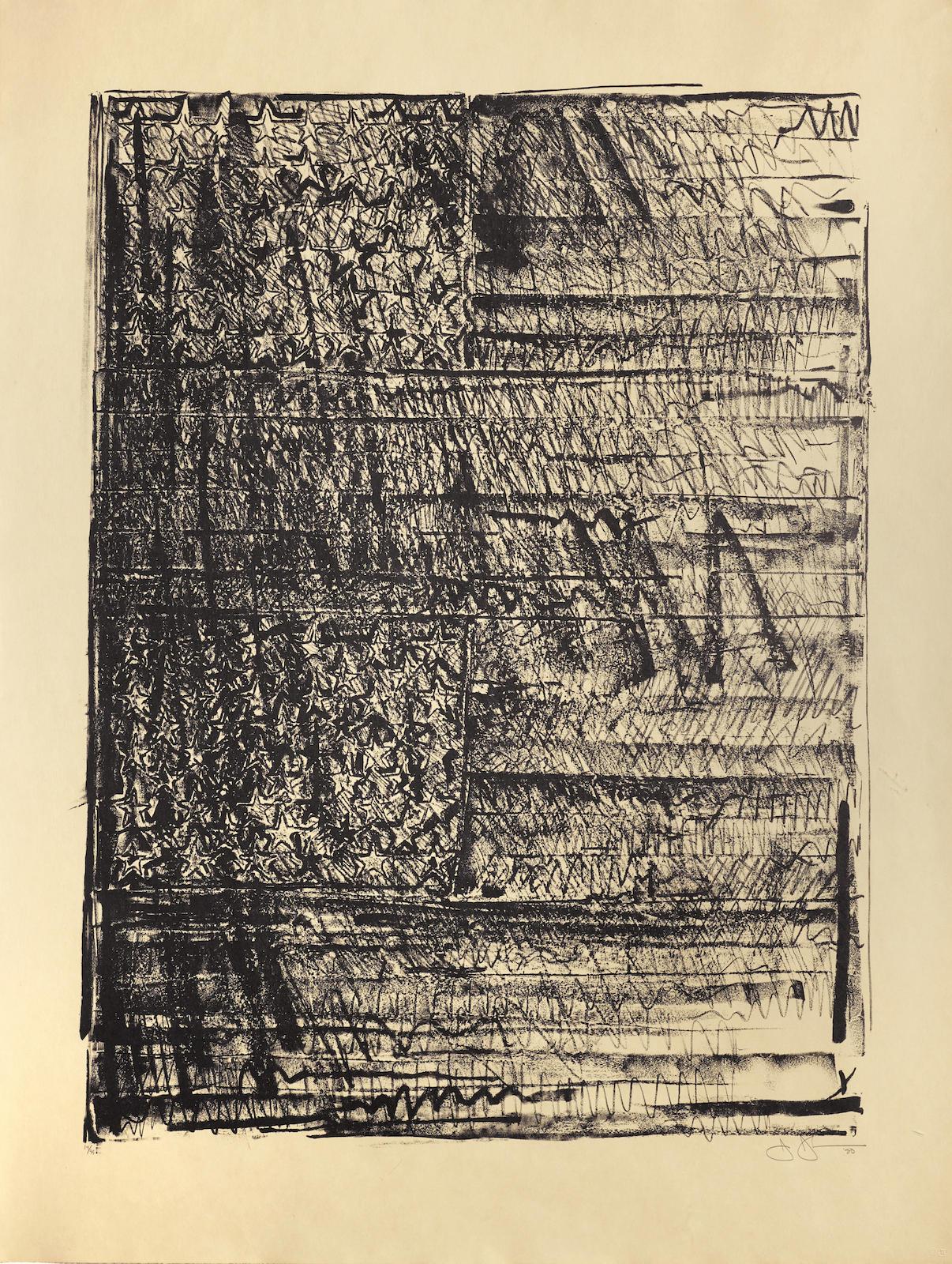 Jasper Johns-Two Flags (Ulae 212; G. 914)-1981