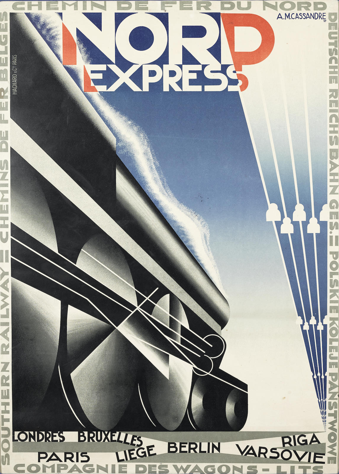 Adolphe Mouron Cassandre-Nord Express-1927