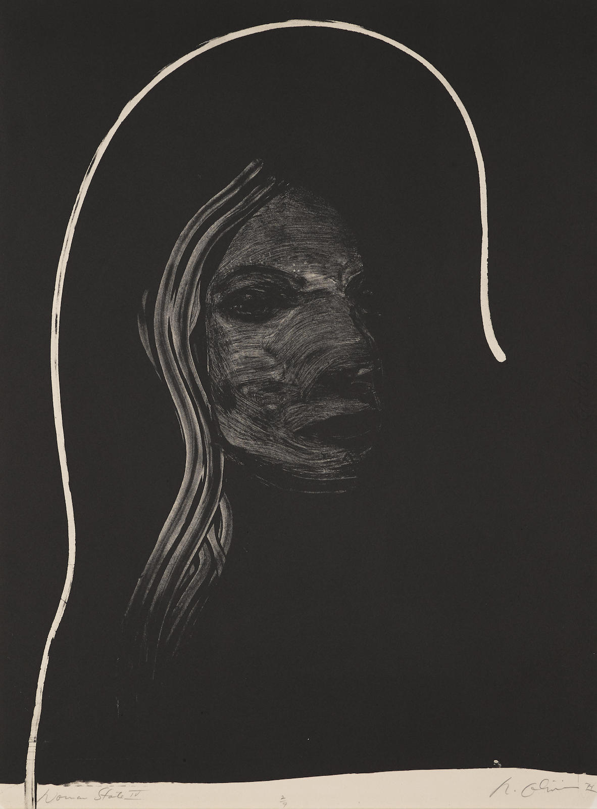 Nathan Oliveira-Woman State IV (S. 157)-1971