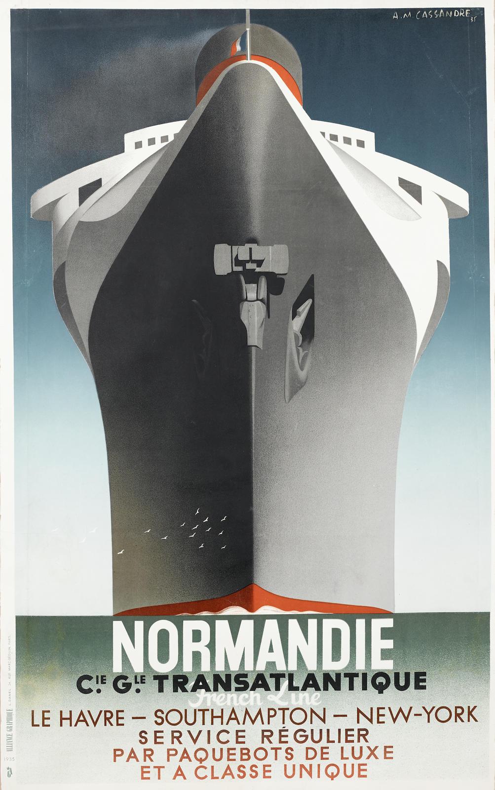 Adolphe Mouron Cassandre-Normandie-1935