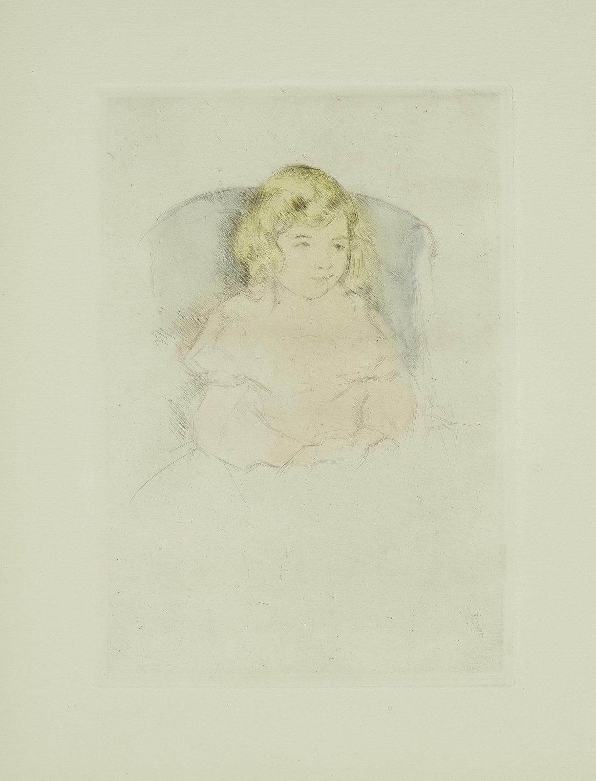 Mary Cassatt-Sara Smiling (B. 195)-1904
