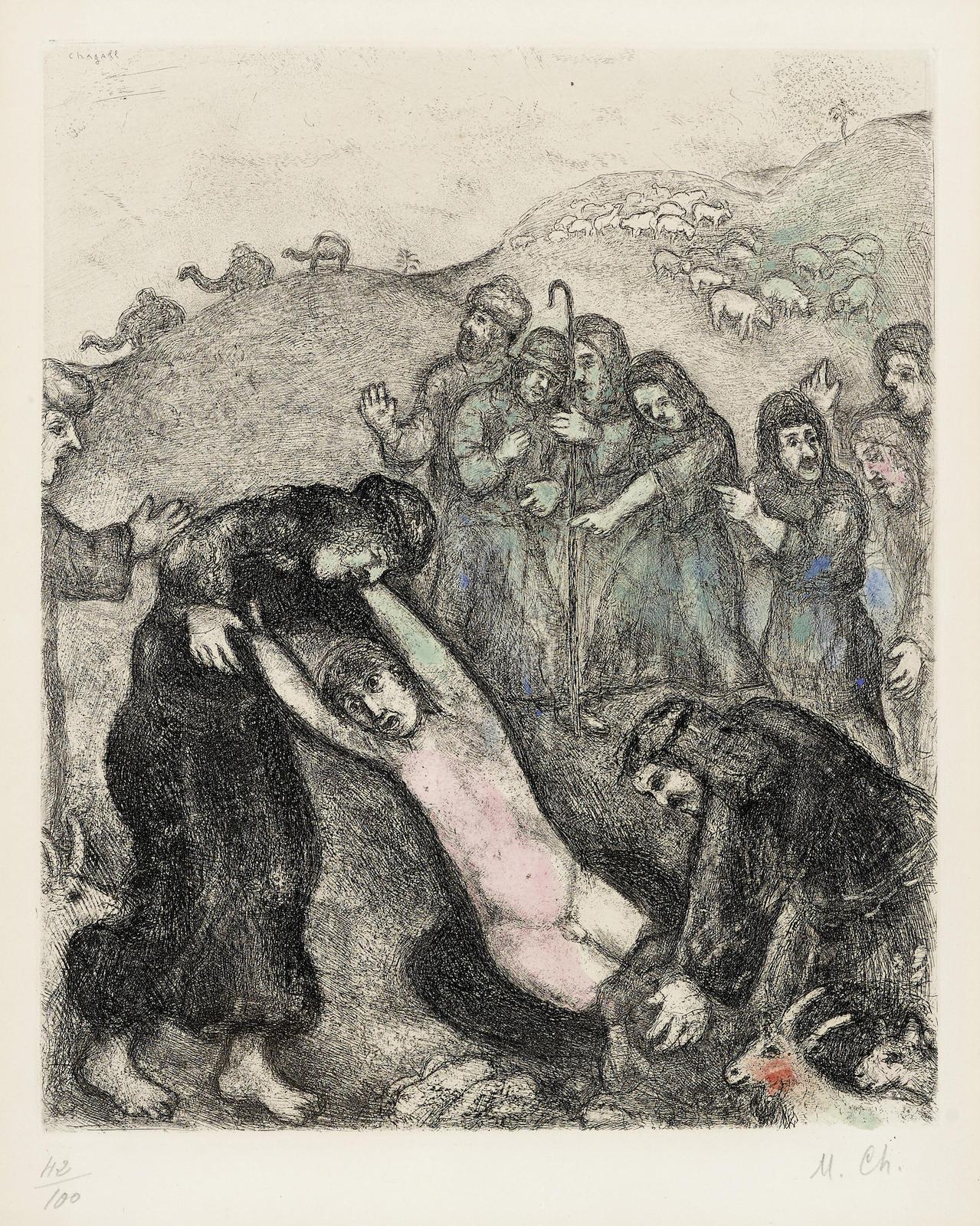 Marc Chagall-Joseph Et Ses Freres, Pl. 19, From La Bible (V. 216; C. Bk. 30)-1939