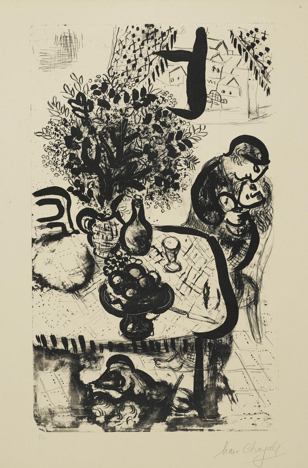 Marc Chagall-The Table (M. 161)-1956