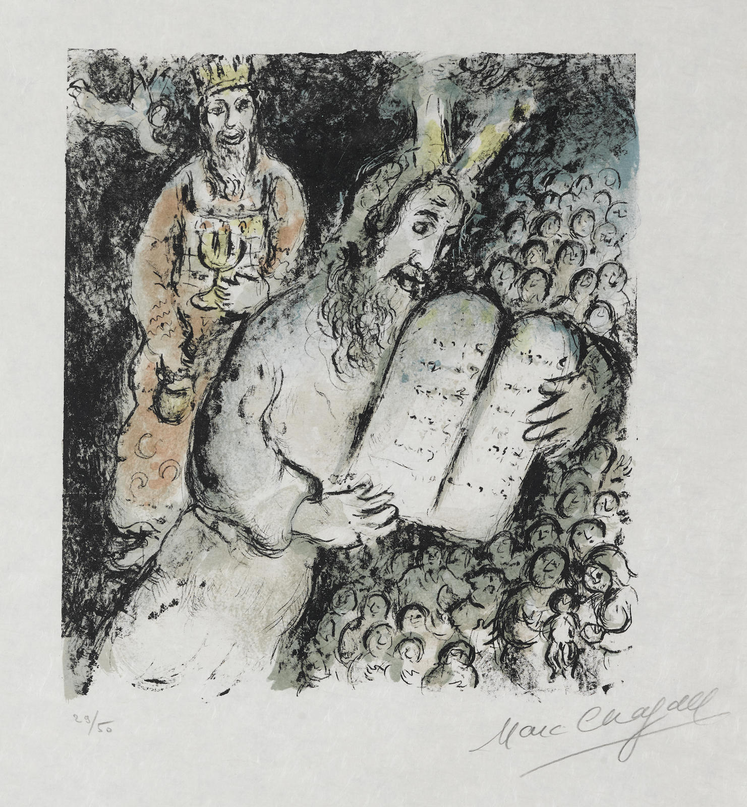 Marc Chagall-Moses And Aaron-1979