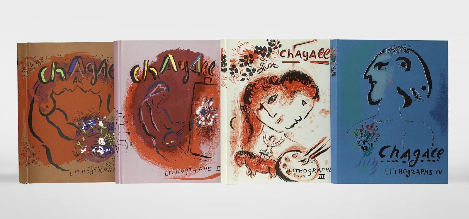 Marc Chagall-Chagall Lithographie, Vols. I-IV 4-1984