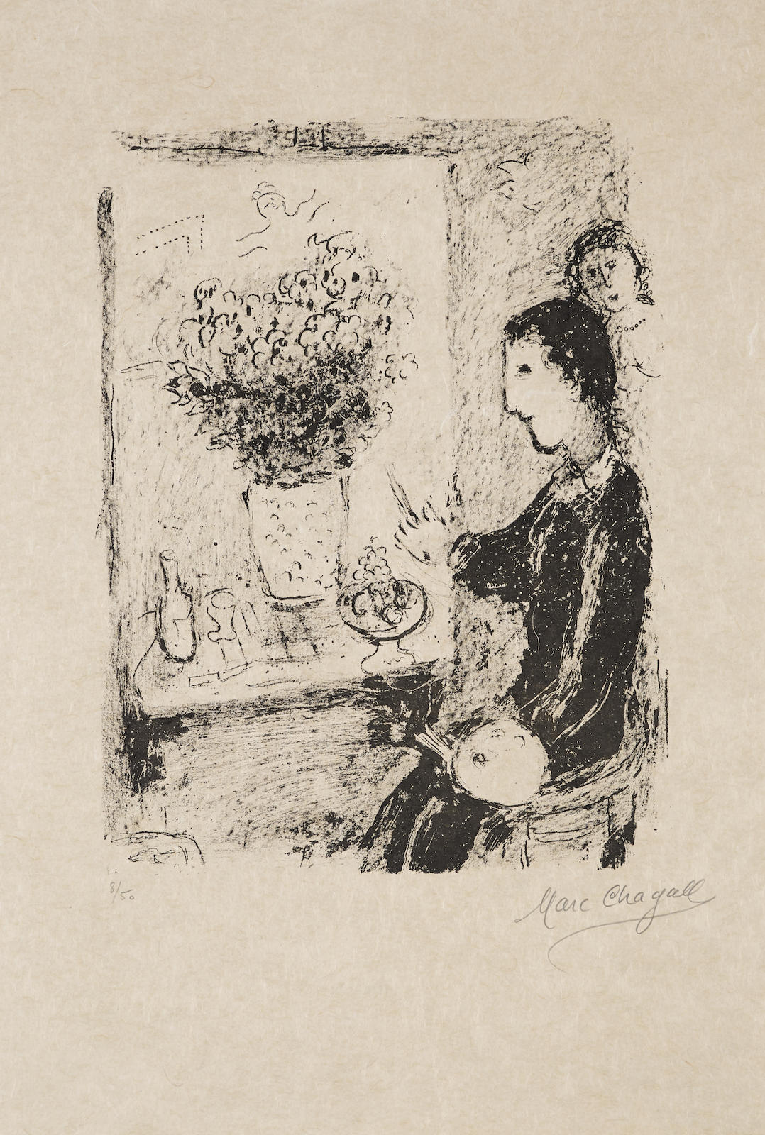 Marc Chagall-The Painter-1979