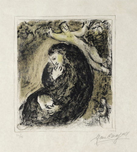 Marc Chagall-The Prophet And The Angel-1979