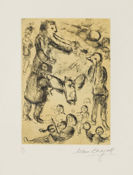 Marc Chagall-Pl. 9, From Psalms Of David (C. Bk. 109)-1980