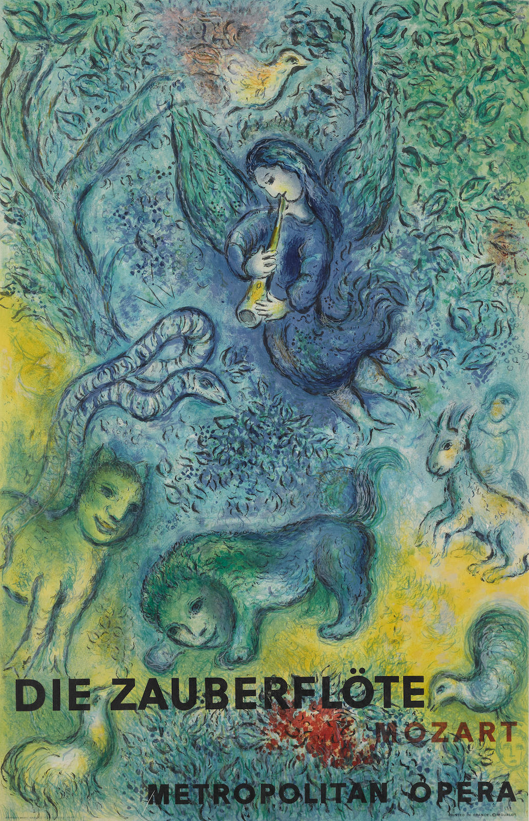 Marc Chagall-After Marc Chagall - Carmen; The Magic Flute (M. CS. 39, 38)-1967
