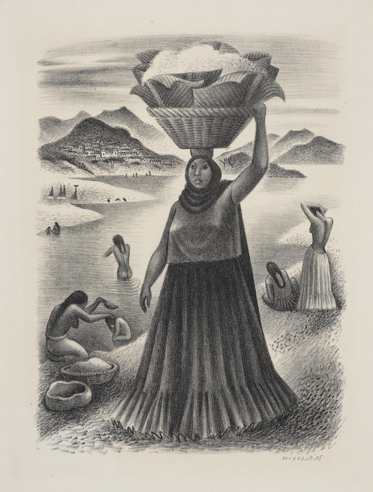 Miguel Covarrubias-Tehauntepec River-1951