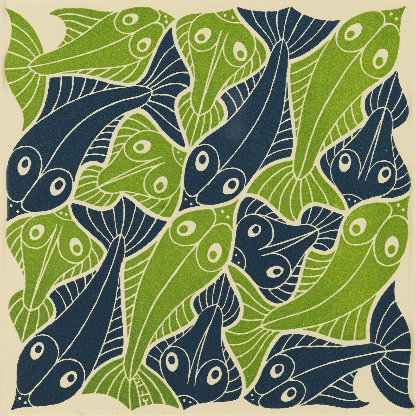 Maurits Cornelis Escher-Four Elements (Air, Earth, Fire, Water) 4 (B. 382-85)-1952