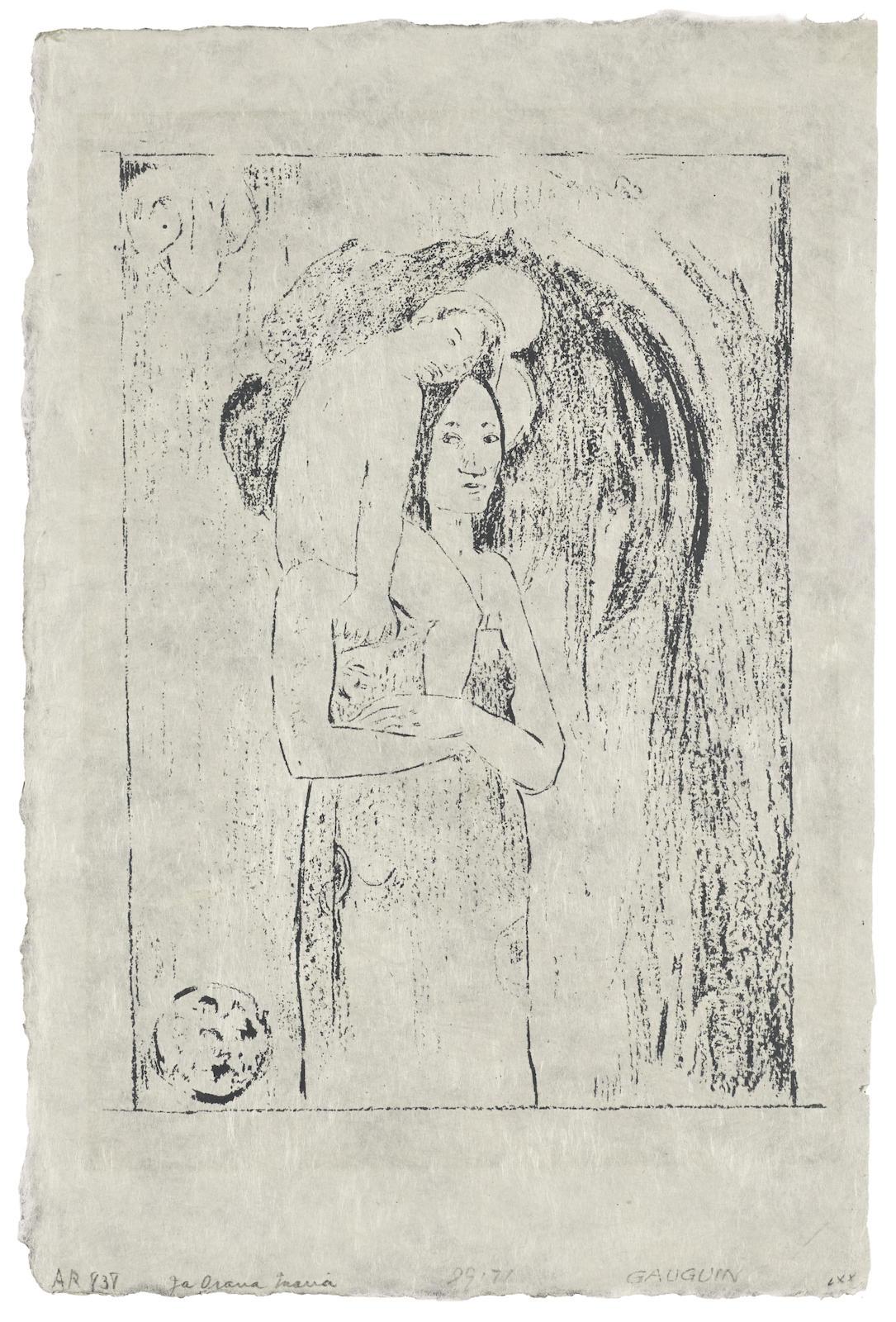 Paul Gauguin-La Orana Maria (G. 51; K. 27)-1895