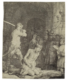 Rembrandt van Rijn-The Beheading Of St. John The Baptist (B., Holl. 92; H. 171; New Holl. 183)-1640
