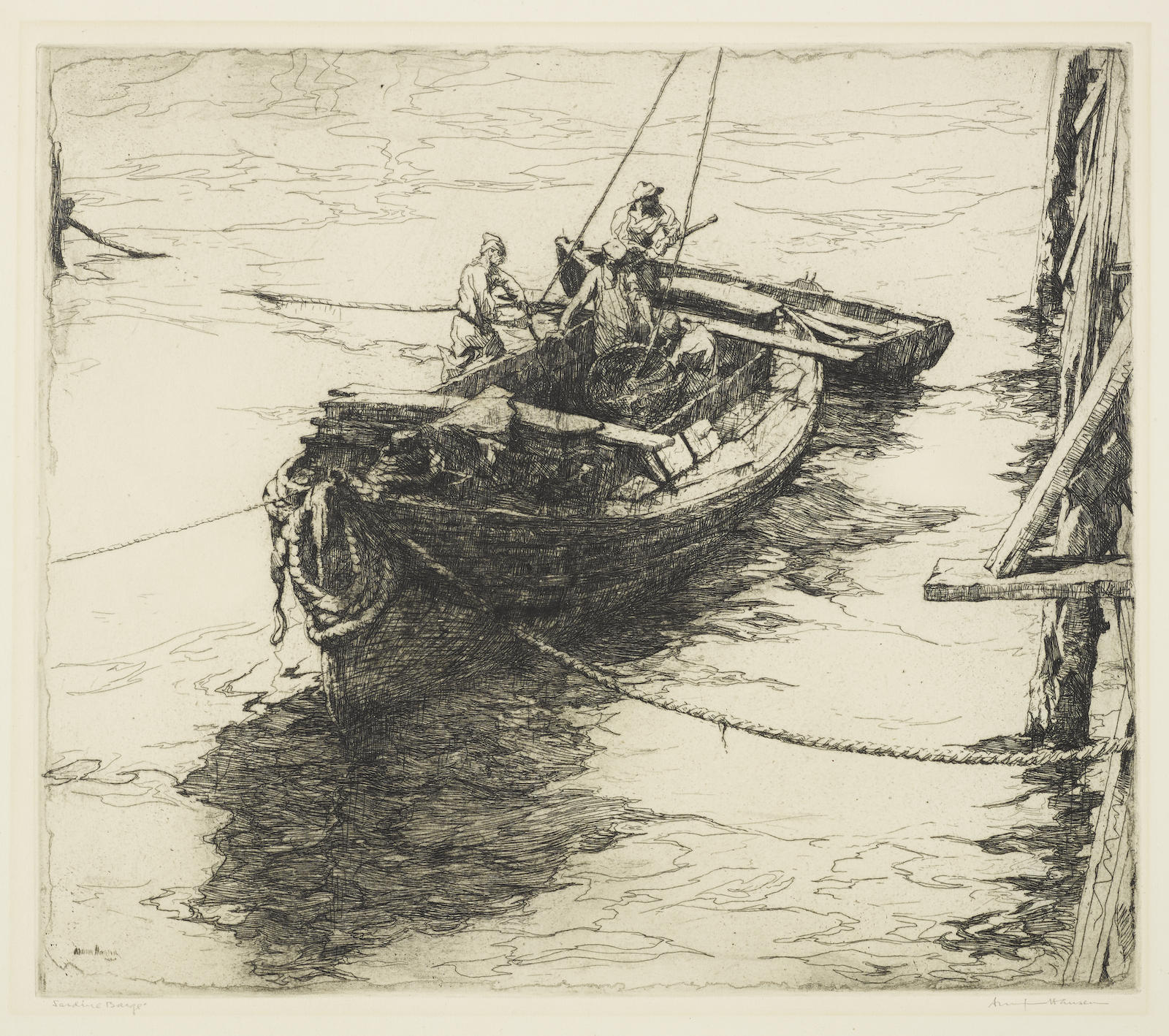 Armin Carl Hansen-Sardine Barge (W. 43)-1922
