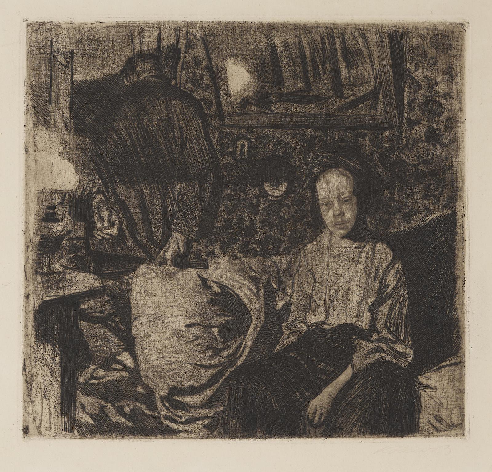 Kathe Kollwitz-Junges Paarjunges Paar (K. 73; Kn. 83)-1904
