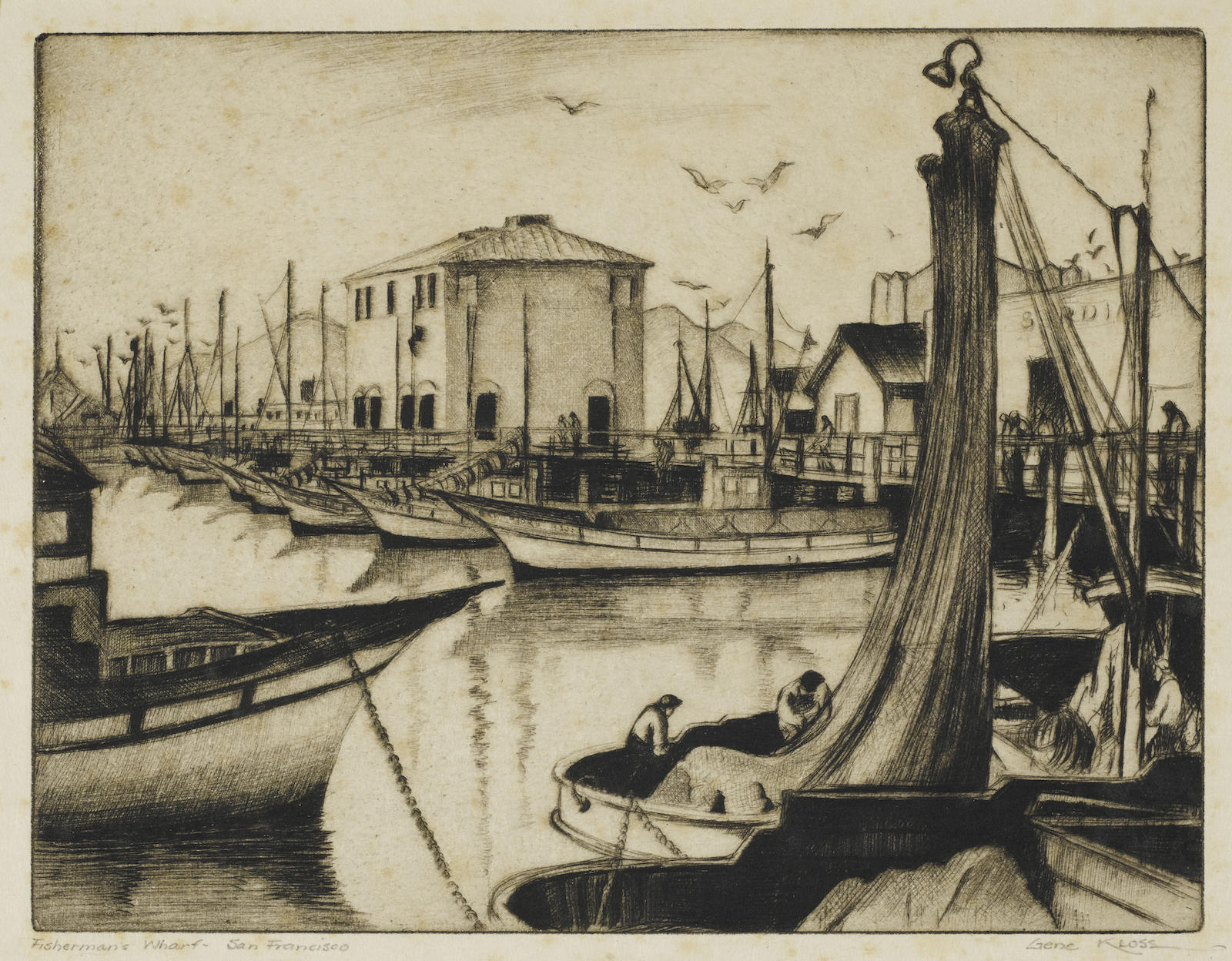 Gene Kloss-Largo; Fishermans Wharf, San Francisco 2 (K. 75; 319)-1935