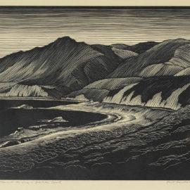 Paul Landacre-Hills And The Sea - Malibu Coast-1930