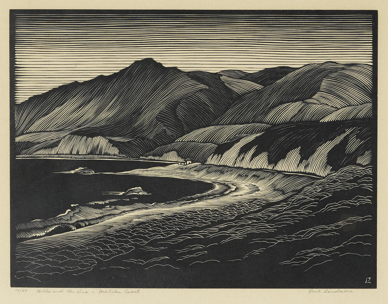 Paul Landacre-Hills And The Sea - Malibu Coast-1930