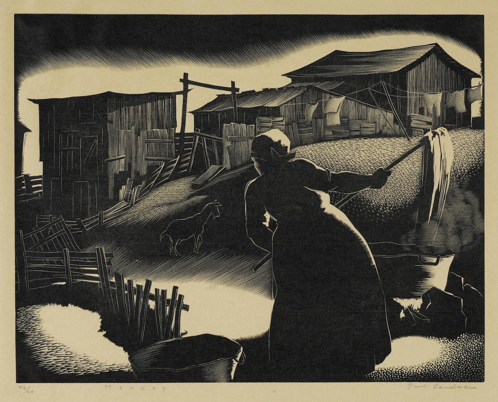 Paul Landacre-Monday-1930