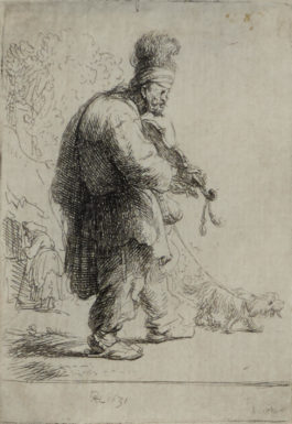 Rembrandt van Rijn-The Blind Fiddler (B., Holl. 138; H. 38; New Holl. 77)-1631
