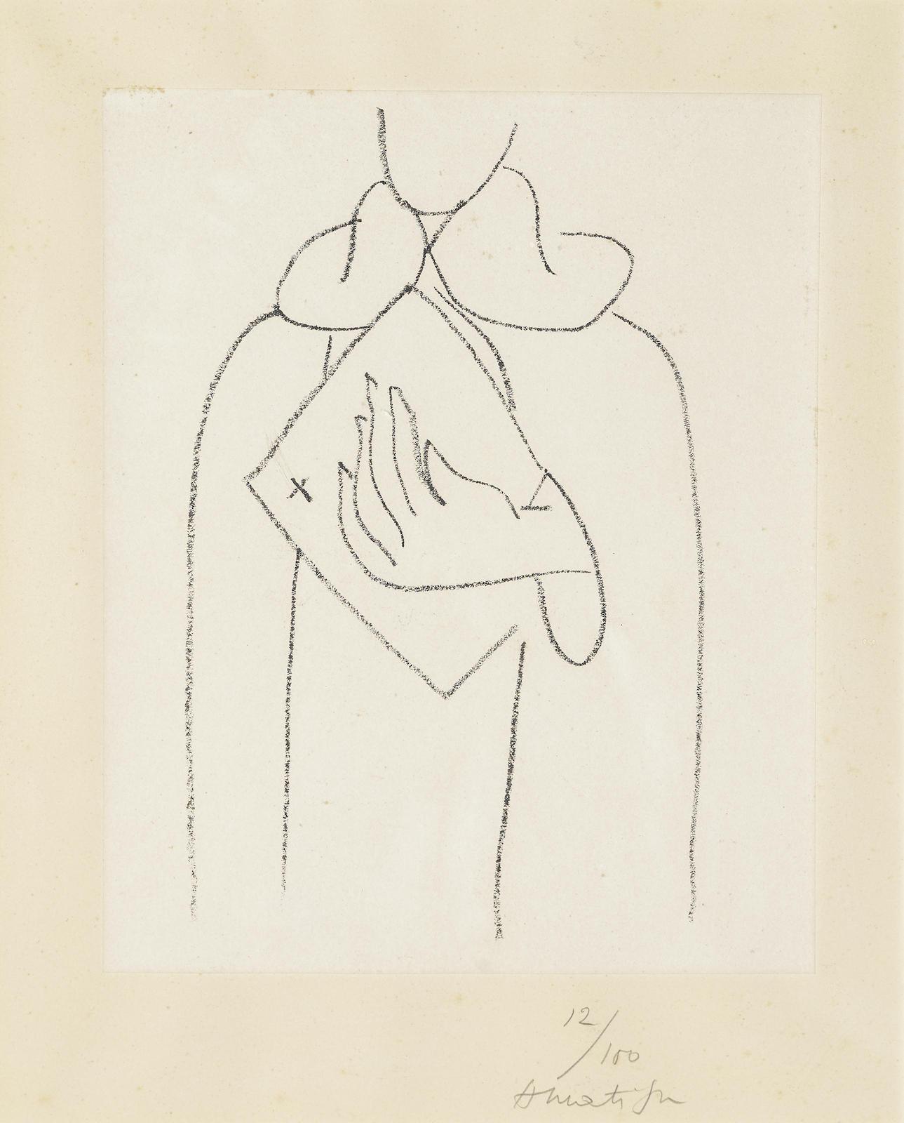 Henri Matisse-Etudes Pour Saint Dominique-1950