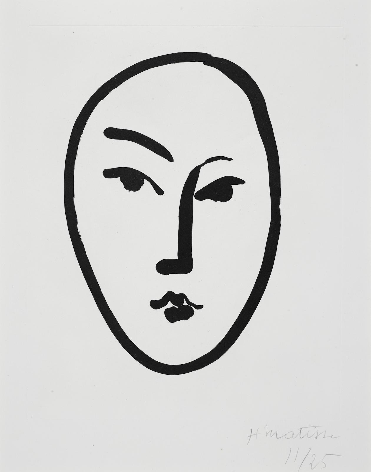 Henri Matisse-Grand Masque (D. 800)-1948
