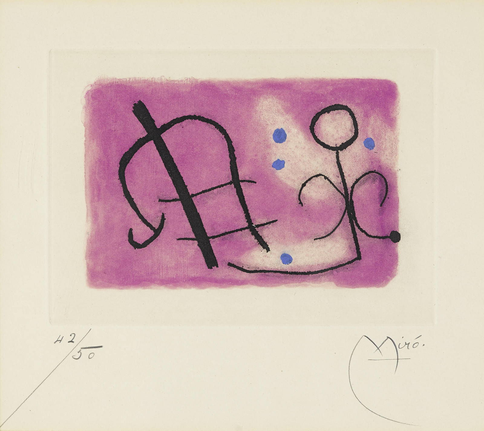 Joan Miro-Plate 12, From Fusees (D. 257; C. Bk. 54)-1959
