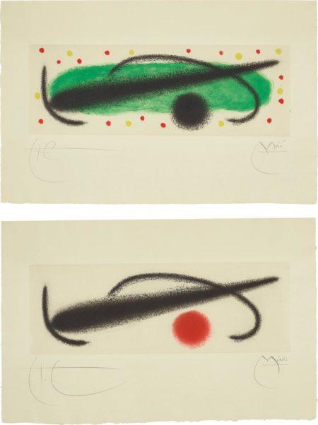 Joan Miro-Fusee (Rocket): Two Plates-1959