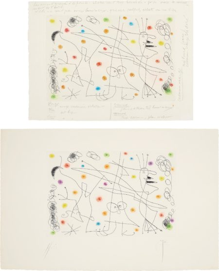Joan Miro-Strip-Tease: Two Impressions-1959