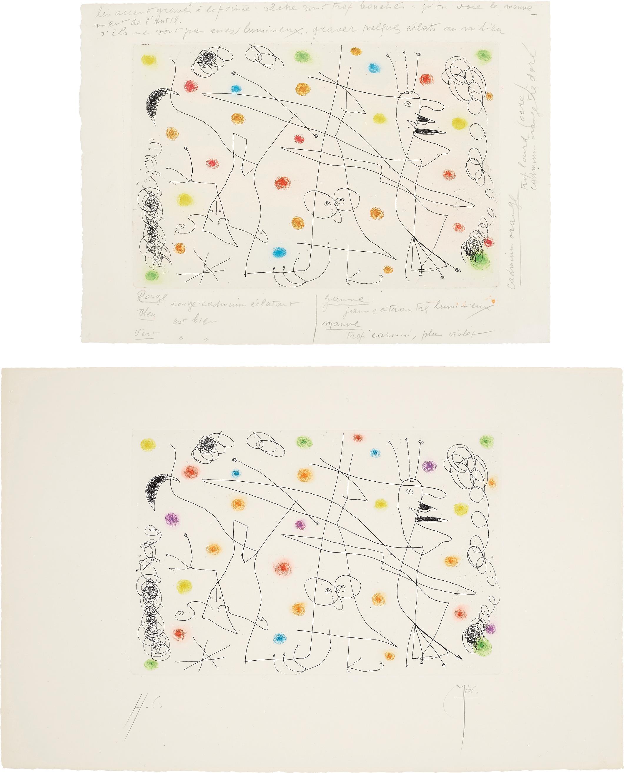Joan Miro-Strip-Tease: Two Impressions-1959