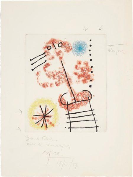 Joan Miro-Feuilles Eparses (Scattered Leaves): One Plate-1965