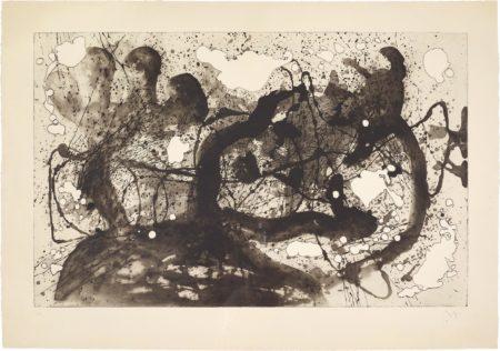 Joan Miro-Les Geants (The Giants): Plate 6-1960