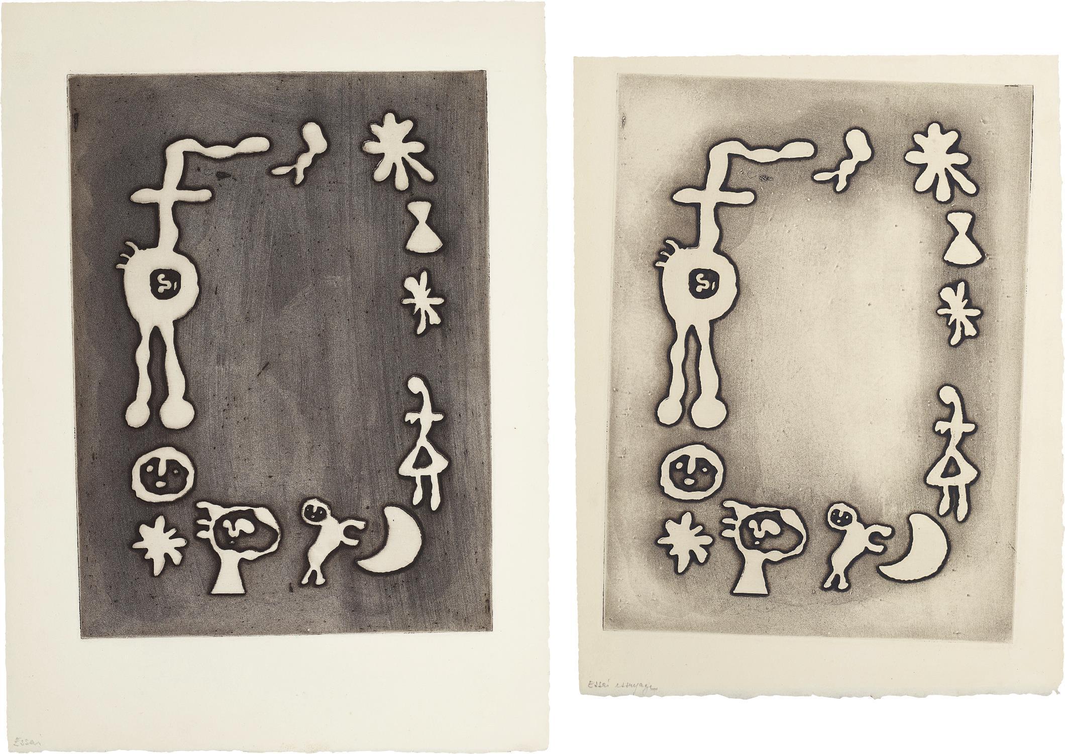 Joan Miro-Ruthven Todd Album, Joan Miro Poem: Two Impressions-1947