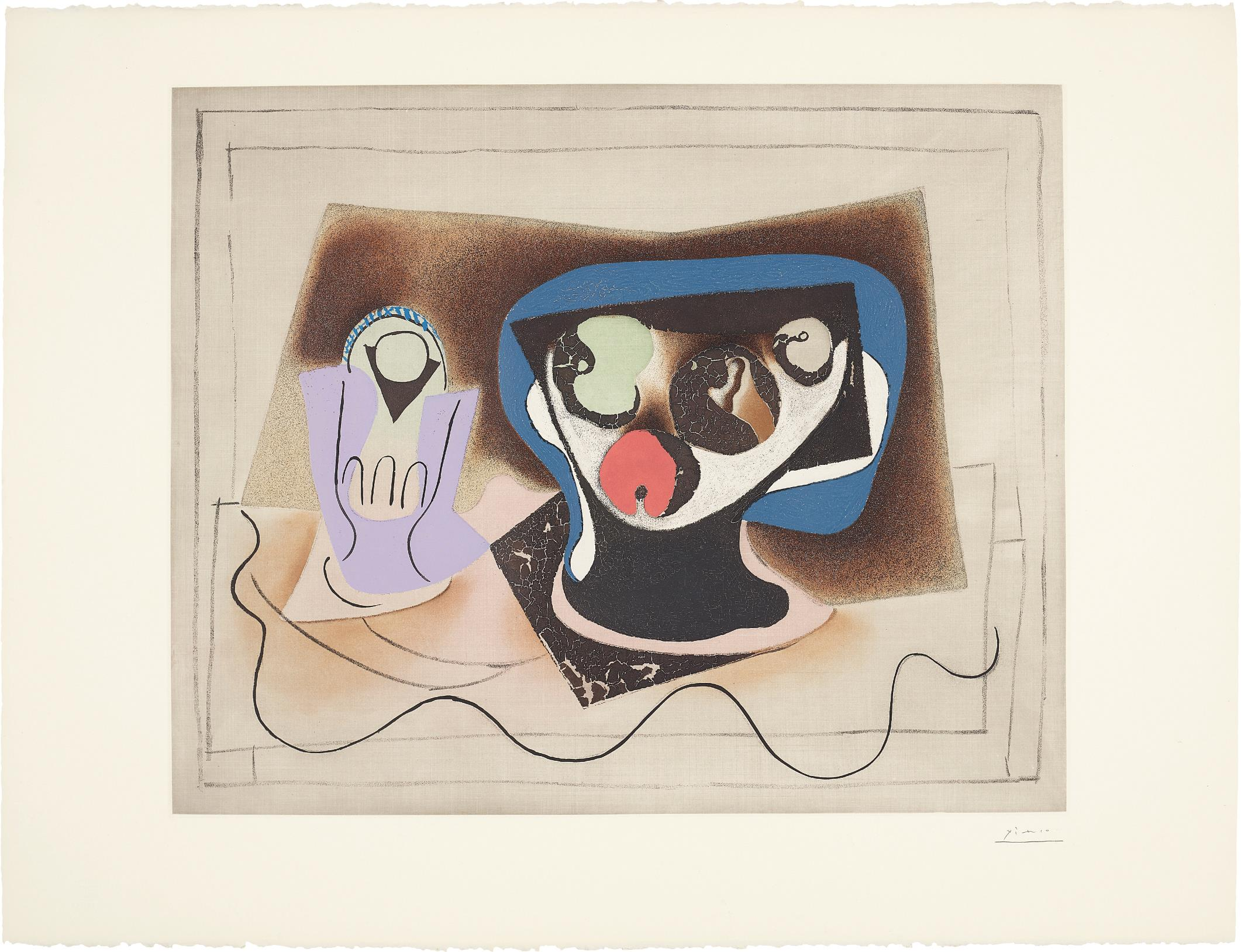 After Pablo Picasso - Le Verre Dabsinthe (Absinthe Glass)-1972