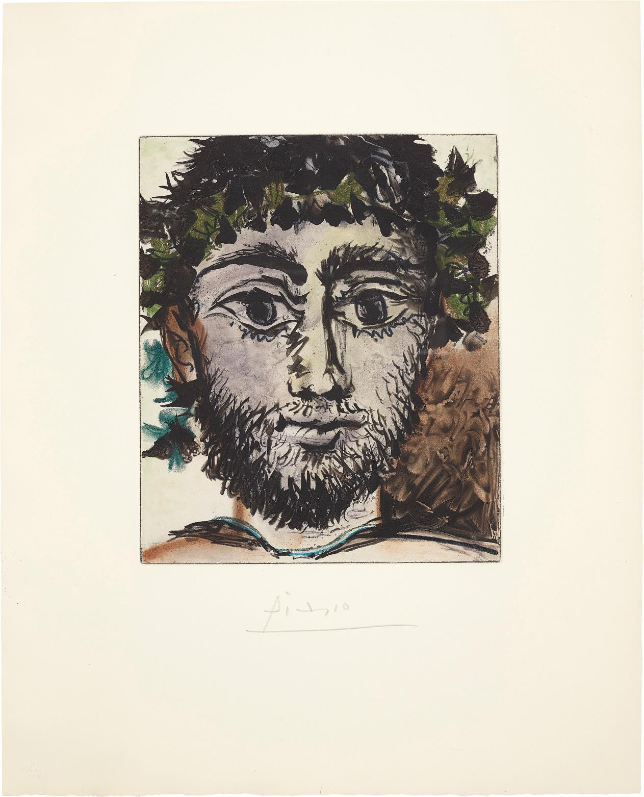 After Pablo Picasso - Tete De Faune (Head Of A Faun)-1960