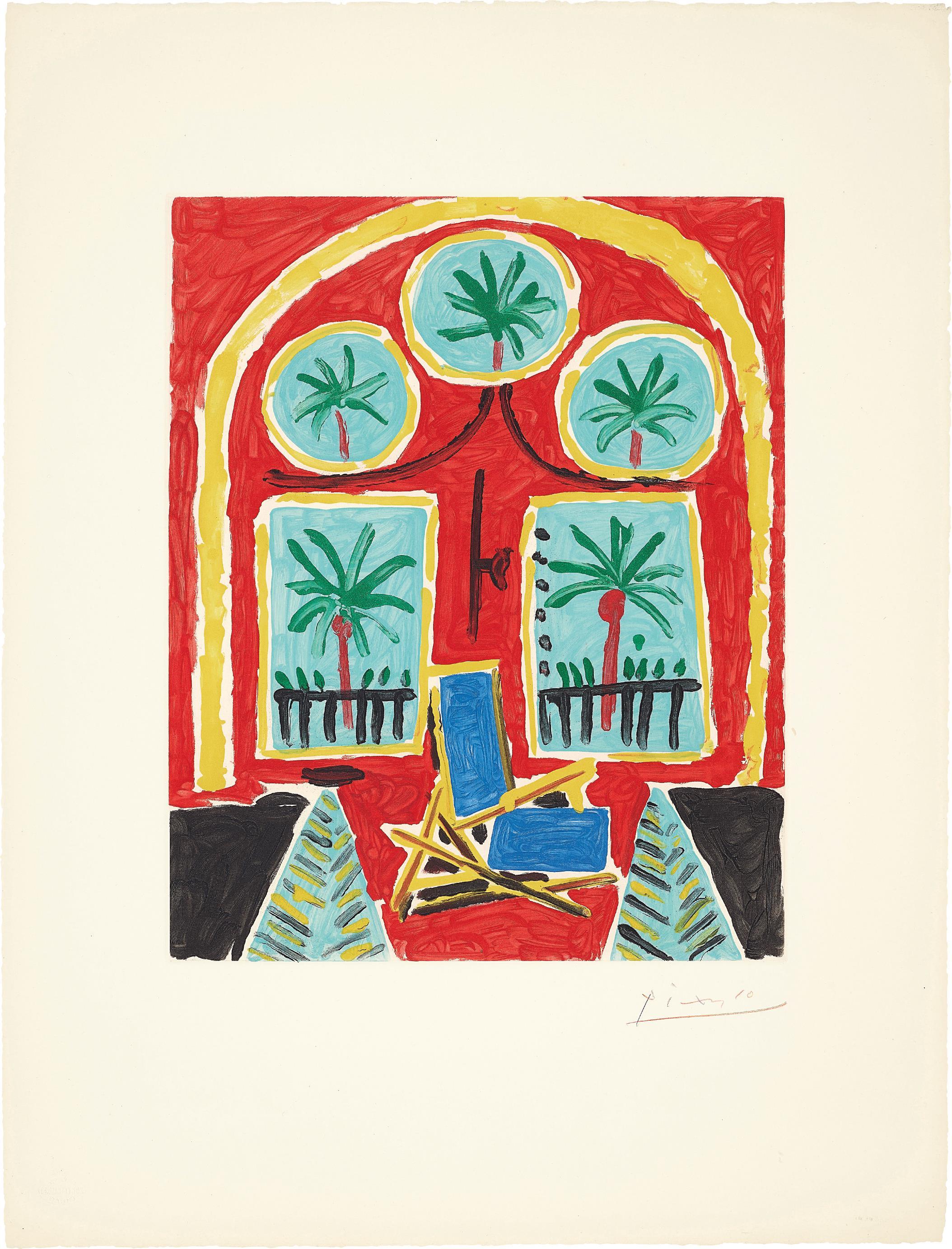 After Pablo Picasso - La Californie (Interieur Rouge) (La Californie - Red Interior)-1960