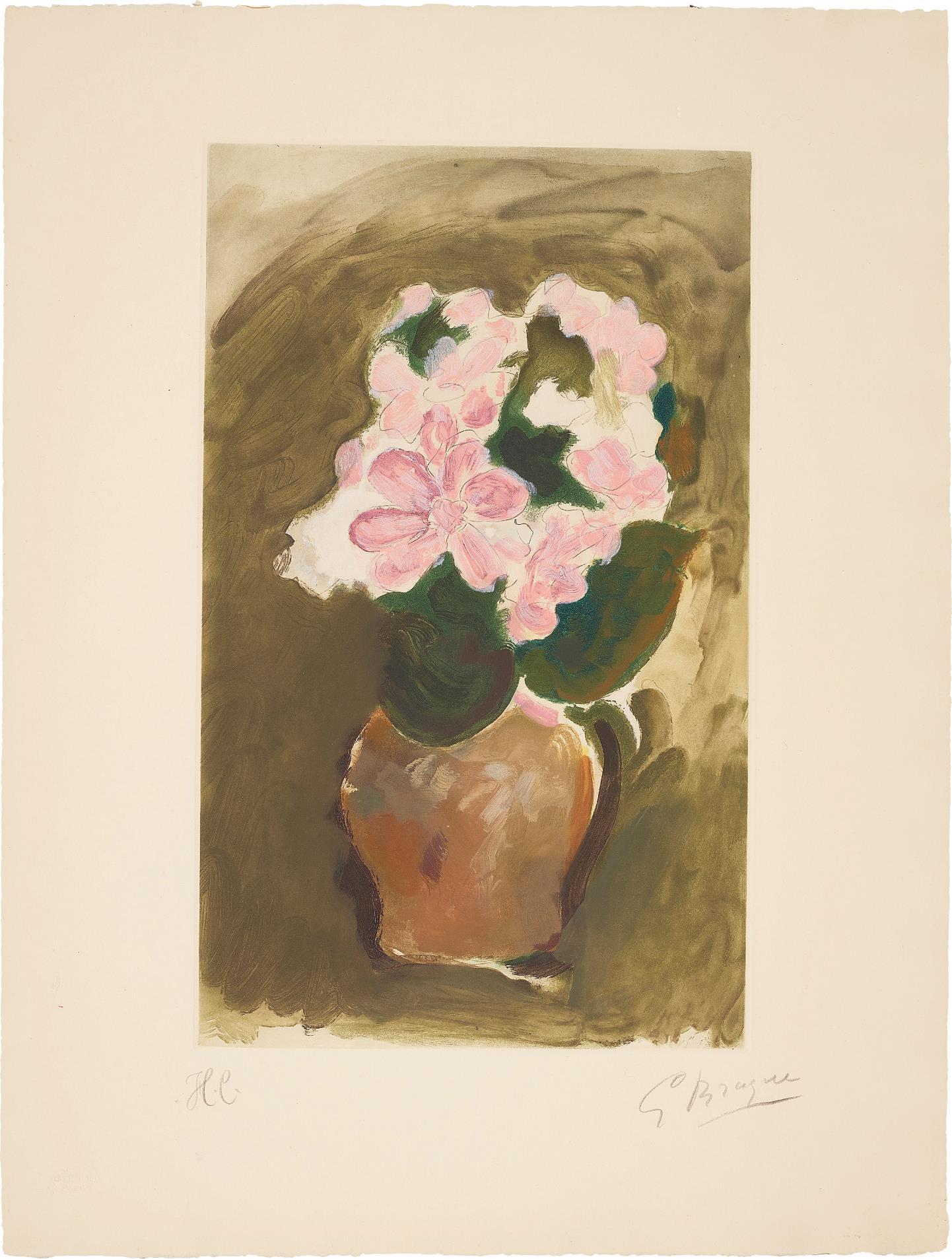 After Georges Braque - Bouquet Dans Un Vase (Bouquet In A Vase)-1953