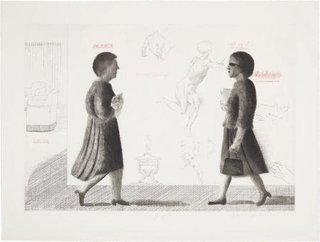 David Hockney-Homage To Michelangelo, From Omaggio A Michelangelo-1975