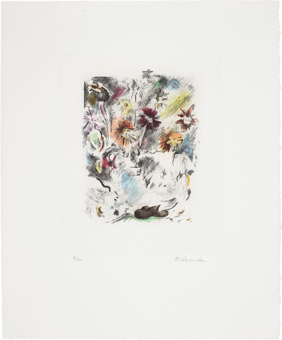 Richard Hamilton-Multi-Coloured Flower-Piece-1974