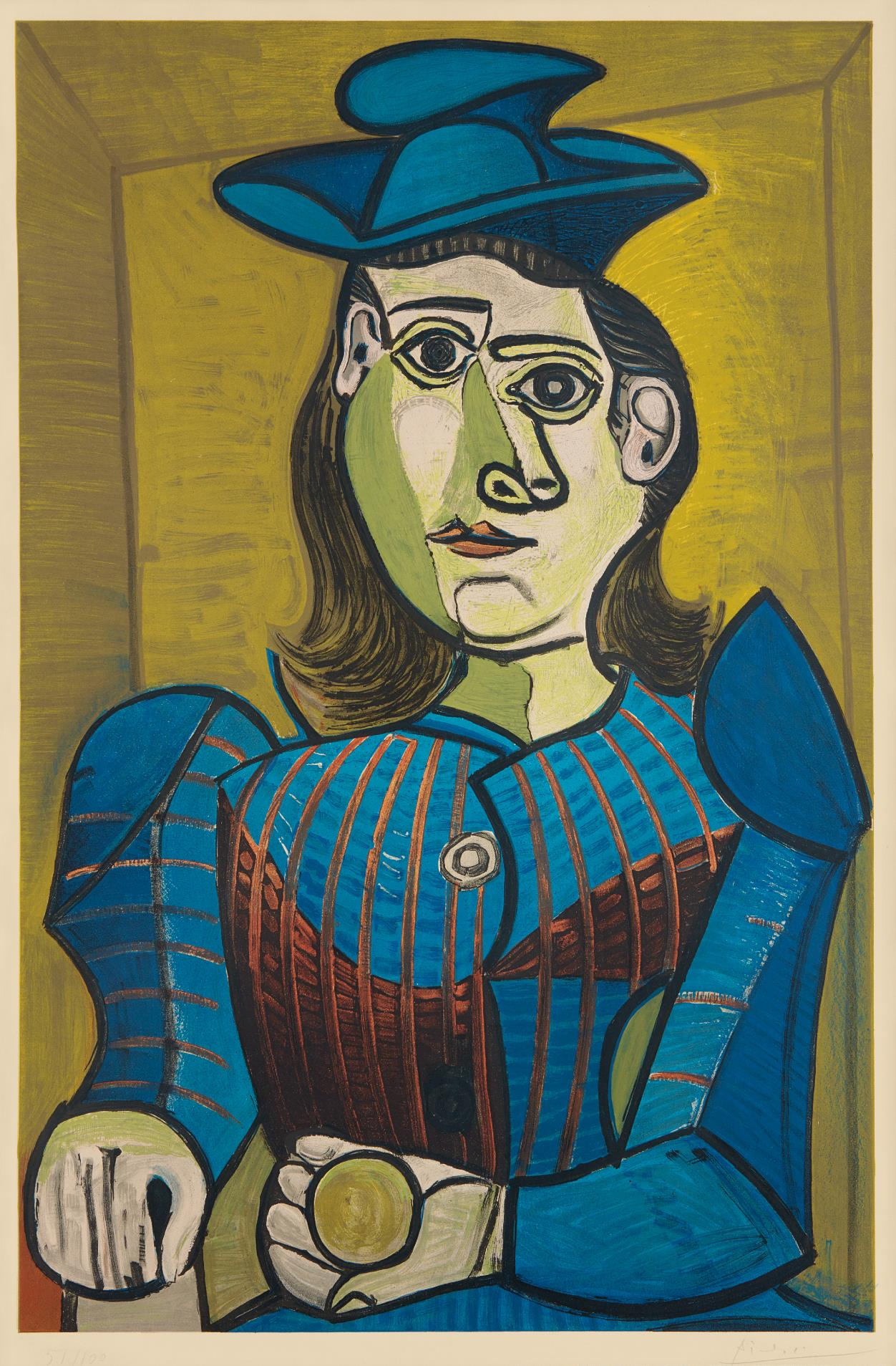 After Pablo Picasso - Dora Maar (Femme Assise) (Dora Maar - Seated Woman)-1955