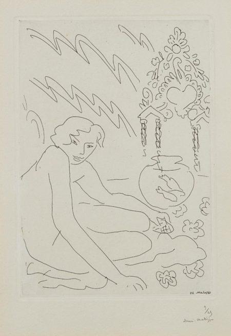 Henri Matisse-Nu Au Miroir Marocain-1929