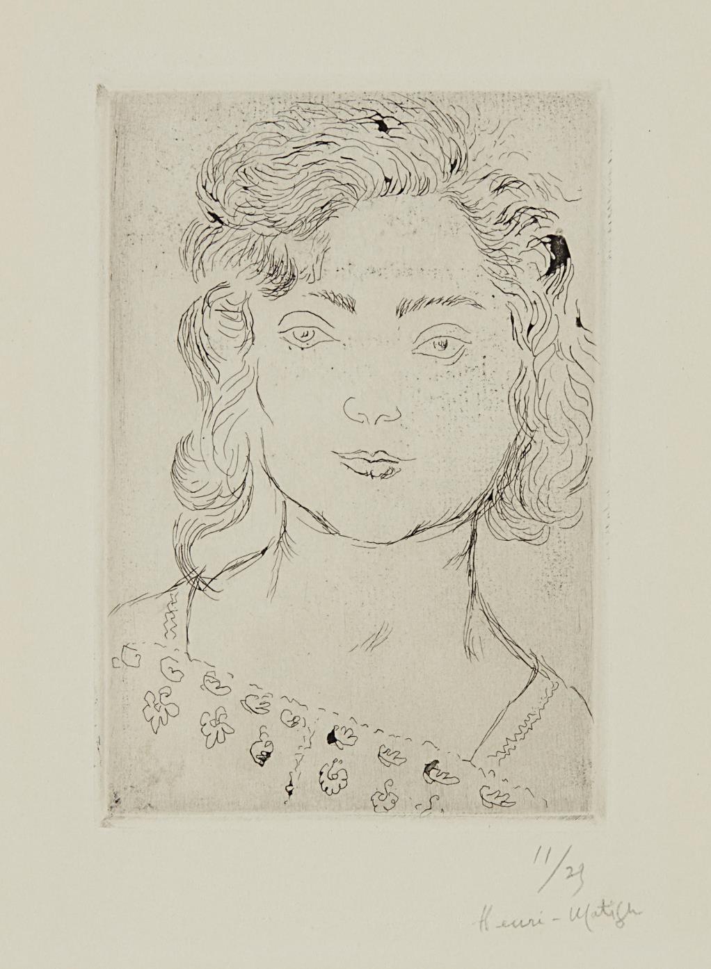 Henri Matisse-Fillette, Blouse Fleurie-1920
