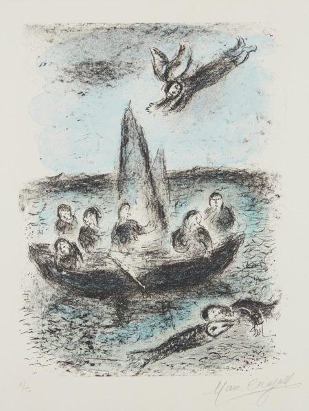 Marc Chagall-La Barque De Jonas-1977