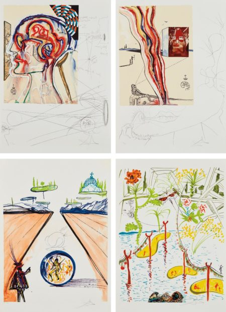 Salvador Dali-Imaginations And Objects Of The Future: Four Plates-1975