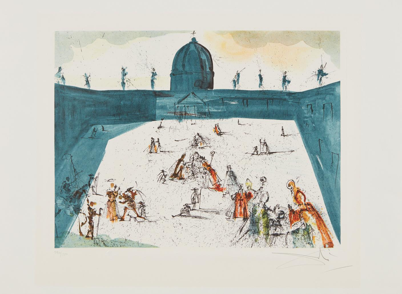 Salvador Dali-Place St-Pierre-1972